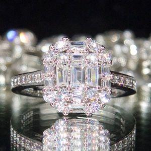 925 14kt Gold Dipped Swarovski Engagement Ring